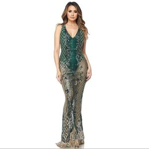 Dresses & Skirts - Sequin beaded sheer dress